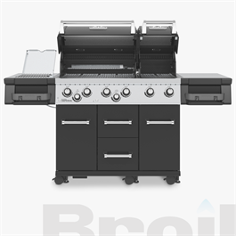 Broil King® Imperial™ 690 IR Black Barbecue Thumbnail Image 1